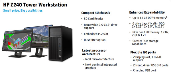 HP Z240 Tower